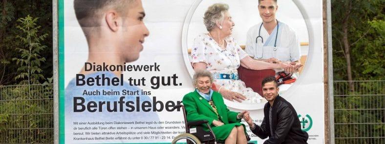 Mitarbeiterkampagne im Diakoniewerk Bethel: Das Bild zeigt eins der Plakate.