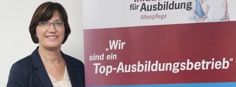 Angelika Pfab (Bild) über die Initiative für Ausbildung Altenpflege (Qualitätssiegel, Arbeitgebersiegel).