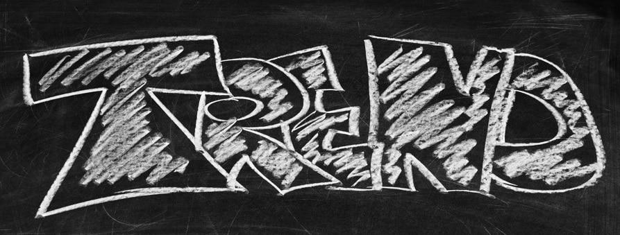 """Das Bild zeigt eine Schultafel mit dem Kreide-Schriftzug """"Trend"""". Es bebildert Artikel zu Recruiting Tools wie tandemploy Quelle: pixabay.com"""