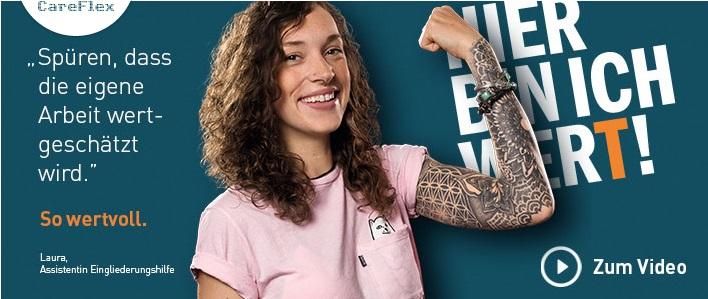 Das Bild zeigt die Employer Branding Kampagne des Personaldienstleisters Careflex