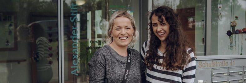 Blogger Kooperationen der Diakonie Stetten mit Laura alias Fruit Fairy (rechts im Bild)