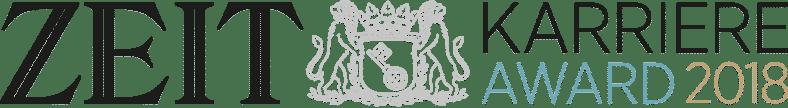 Eine Comic Stellenanzeige der Diakonie war für den Zeit Karriere Award nominiert. Die Grafik zeigt das Logo des Zeit Karriere Awards.