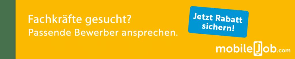 Social Recruiting Kanäle: Werbebanner für mobileJob.com