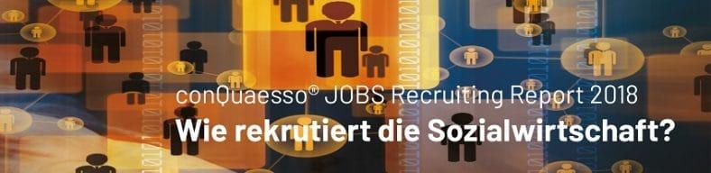 Die Grafik zeigt einen Ausschnitt aus dem Buch-Cover vom conQuaesso JOBS Recruiting Report 2018