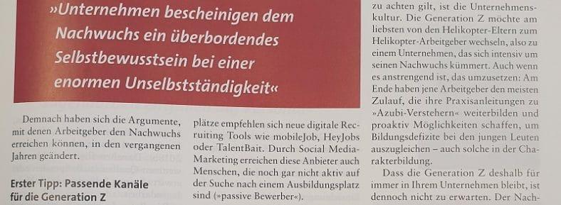 SOZIALwirtschaft Zeitschrift für Sozialmanagement Generation Z Maja Roedenbeck Schäfer