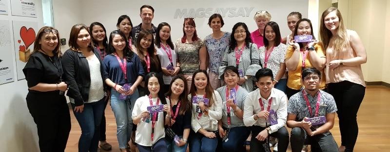 Philippinische Pflegekräfte bei der Agaplesion Bethanien Diakonie: Gruppenbild