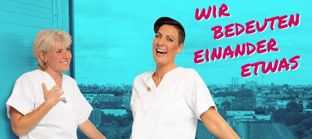Ute und Michèle sind Corporate Influencer der DRK Kliniken Berlin