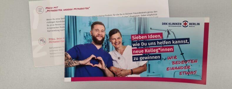 Mitarbeiter Flyer der DRK Kliniken Berlin