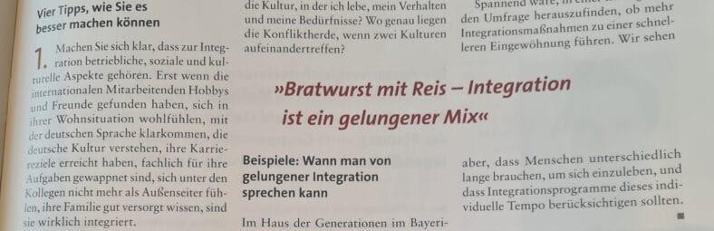 Integration ist Management-Aufgabe: Artikel in der Zeitschrift SOZIALwirtschaft