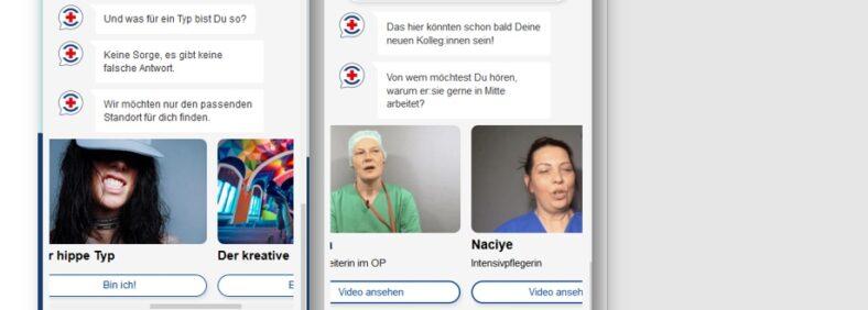 Der ChatBot der DRK Kliniken Berlin bringt Bewerbungen